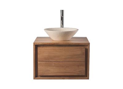 Meuble salle de bain pas cher avec ou sans vasque bois beige ...