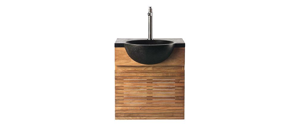 Meuble de salle de bains avec vasque et meuble de rangement ISAK