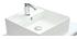 Meuble de salle de bains avec vasque, miroir et rangements blanc LOTA