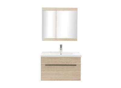 Meuble salle de bain pas cher avec ou sans vasque marron ...