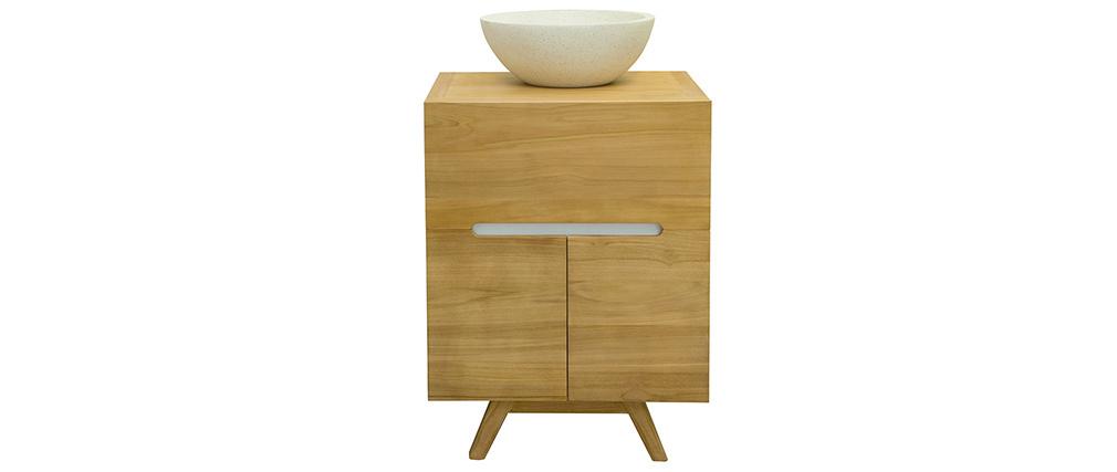 Meuble de salle de bains en teck avec vasque CALAM