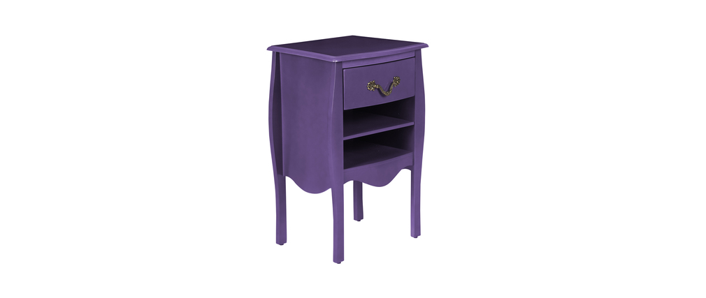 meuble de salle de bains rangement baroque violet louisa miliboo. Black Bedroom Furniture Sets. Home Design Ideas