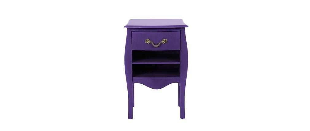 Meuble de salle de bains rangement baroque violet louisa for Salle de bain violet