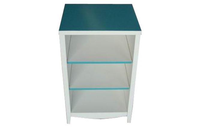 Meuble de salle de bains rangement bleu turquoise tropic for Colonne de salle de bain turquoise