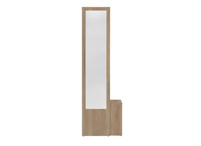 Meuble Dentrée Modulable Avec Penderie Miroir Et étagères Bois Olly