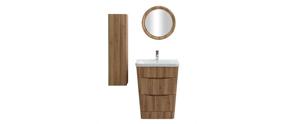 meuble et colonne de salle de bains bois avec vasque. Black Bedroom Furniture Sets. Home Design Ideas