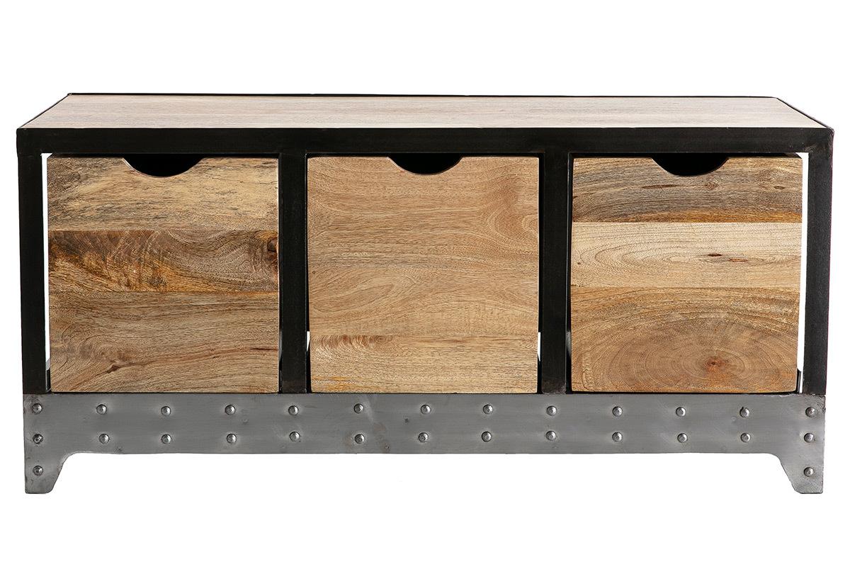 Petit Meuble Range Tout meuble rangement / chaussures industriel bois massif et