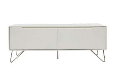 Meuble TV design 120cm blanc mat ILLIA