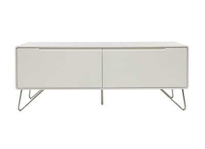 Meuble TV design 120cm blanc mat ILLIA