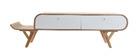 Meuble TV design 150cm frêne KYOTO