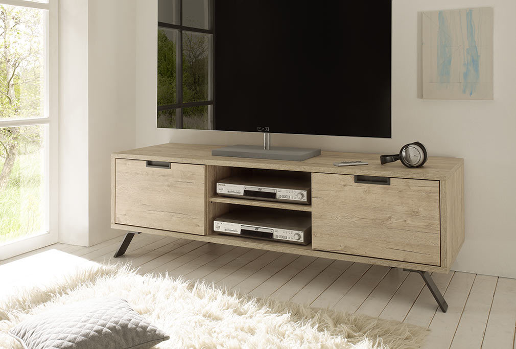 Meuble tv design 156cm ch ne origin miliboo - Meuble tv miliboo ...