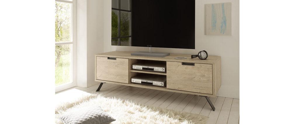 Meuble TV design 156cm chêne ORIGIN