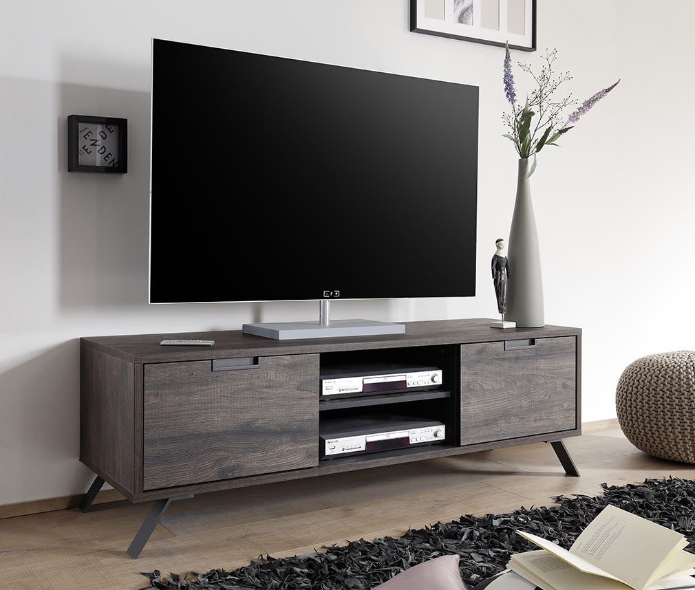 Meuble Tv Fly Wenge : Meuble Tv Design 156cm Wengé Origin – Miliboo
