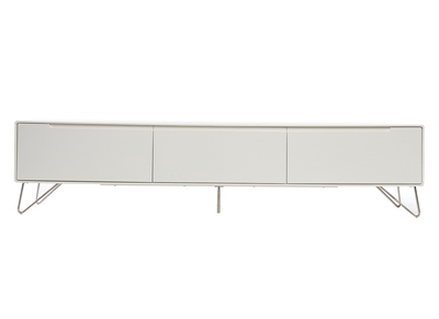 Meuble TV design 200cm blanc mat ILLIA