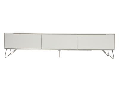 Meuble TV design 200cm blanc mat ILLIA