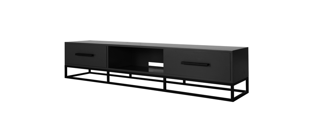 meuble tv design anthracite mat surface miliboo. Black Bedroom Furniture Sets. Home Design Ideas