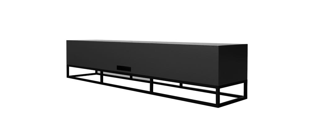 meuble tv design anthracite mat surface miliboo. Black Bedroom Furniture Sets. Home Design Ideas