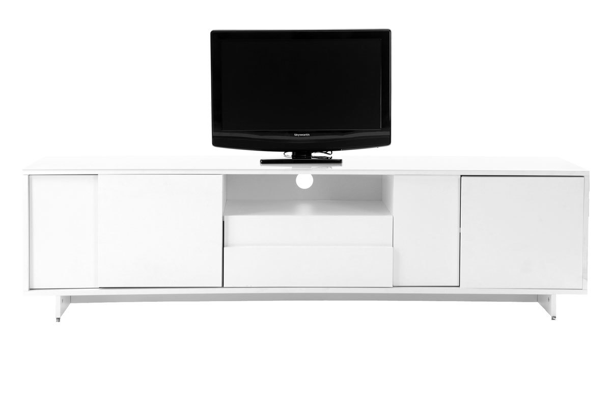 Meuble Tv Blanc Mat But Artzein Com # Meuble Tv Blanc Laque But