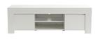 Meuble TV design blanc mat L138 cm TINO