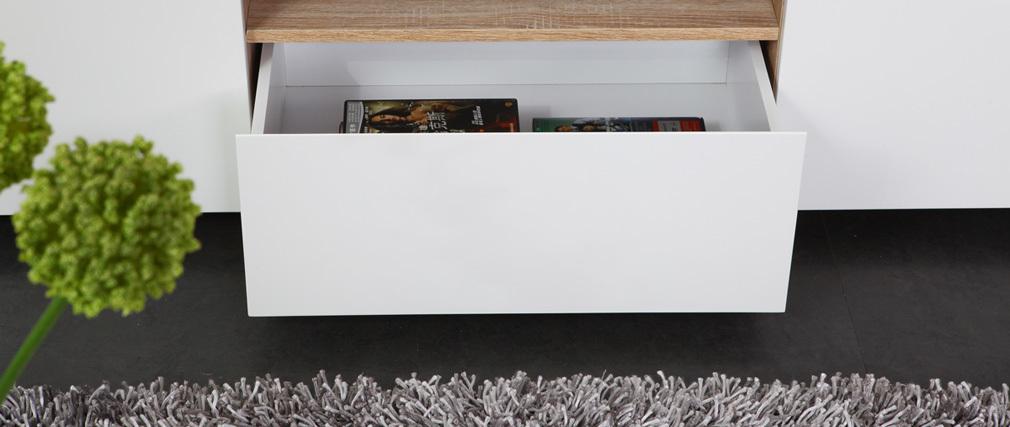meuble tv design blanc mat sigrid miliboo. Black Bedroom Furniture Sets. Home Design Ideas