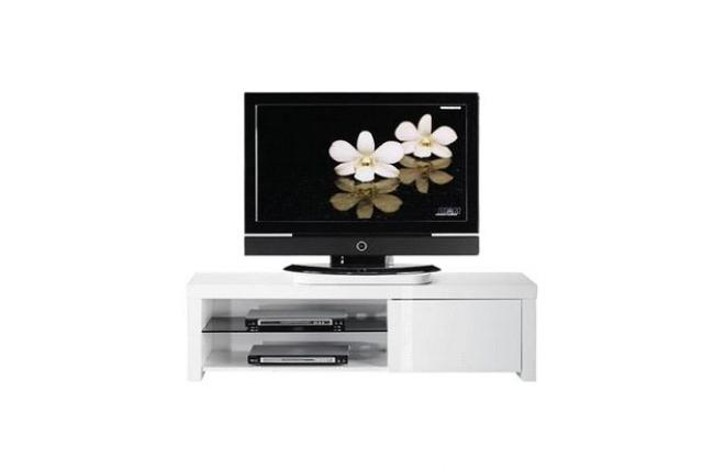 Meuble tv design blanc new york zoom for Meuble tv york
