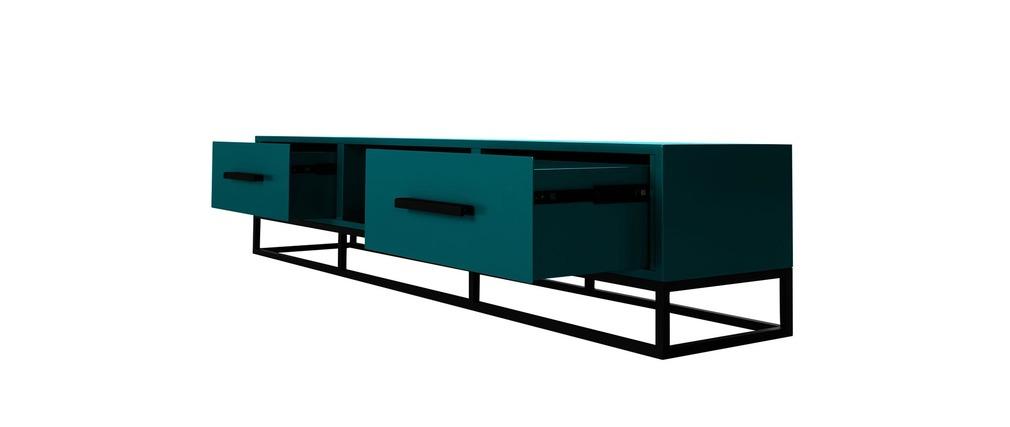 meuble tv design bleu surface miliboo. Black Bedroom Furniture Sets. Home Design Ideas