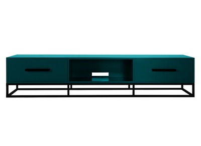 Meuble TV design bleu SURFACE