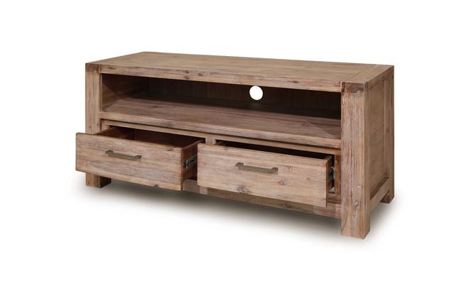 Meuble tv bois blanc for Repeindre un meuble en chene massif