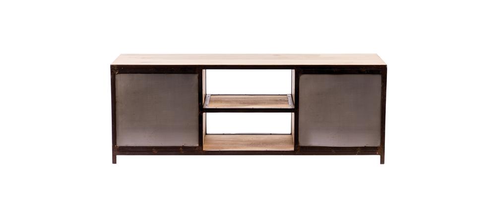 Meuble TV design industriel 150cm INDUSTRIA