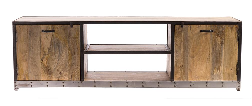 Meuble TV design industriel 178cm INDUSTRIA