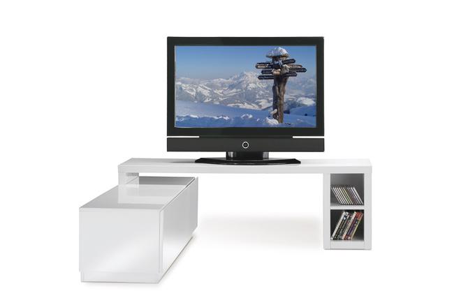 meuble tv design blanc laque artzein