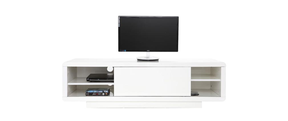 prix des meuble tv blanc. Black Bedroom Furniture Sets. Home Design Ideas