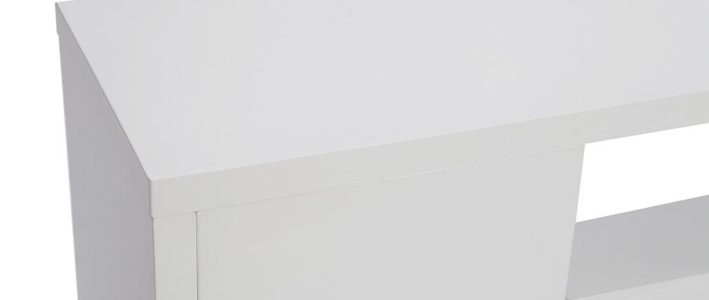 Meuble TV design laqué blanc brillant L150 cm HALTON