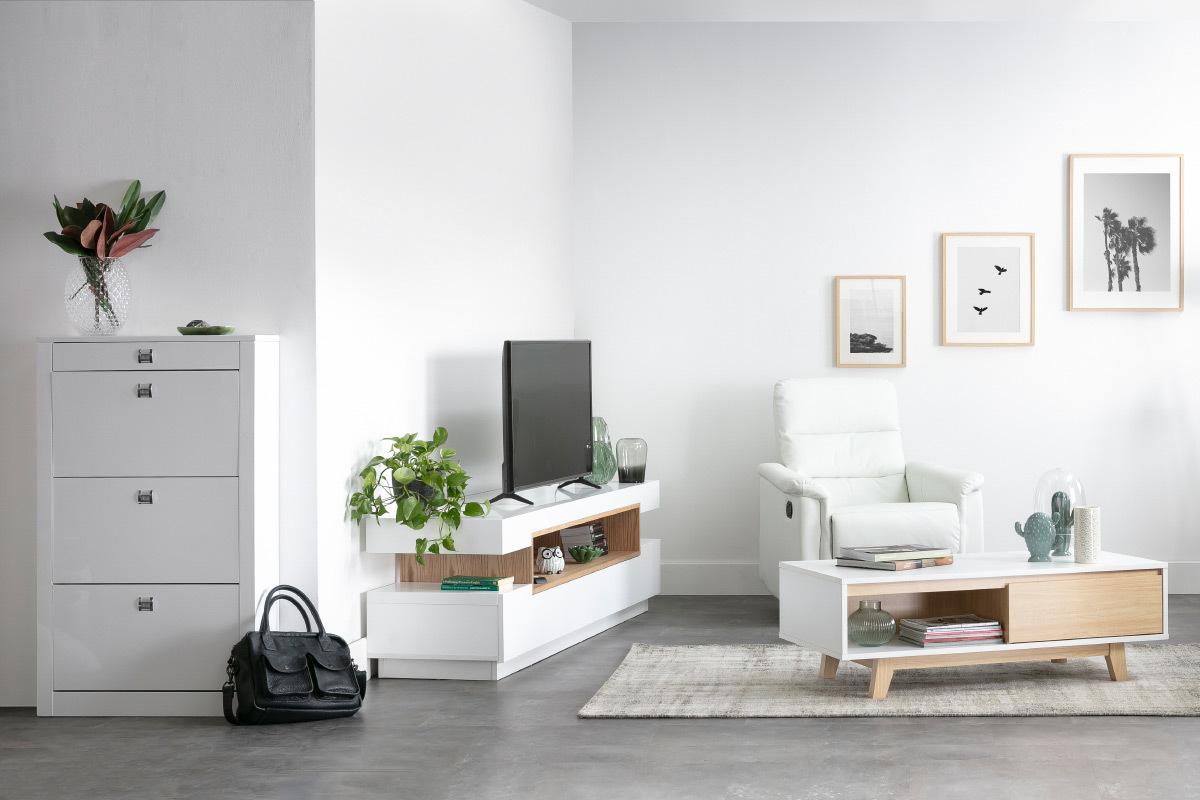 Objet Deco Laque Blanc meuble tv design laqué blanc brillant livo - miliboo