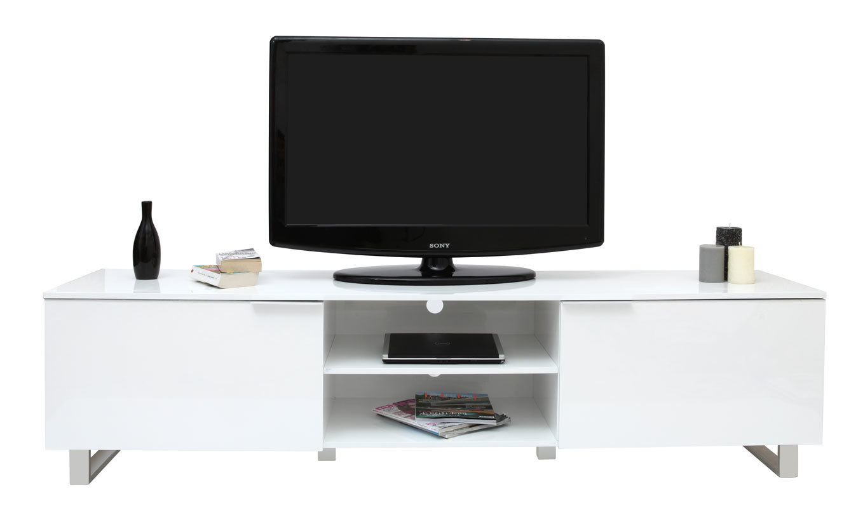 Meuble tv meuble tv moderne avec etageres meuble tv for Meuble tv avec etagere