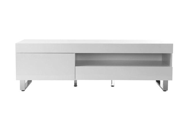 meuble tv blanc laqué arrondi ? artzein.com - Meuble Tv Design Arrondi
