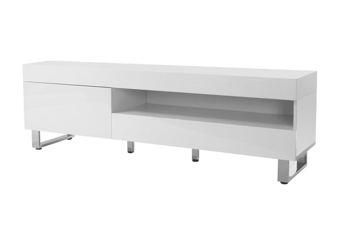 Meuble Tv Design Laque Blanc Melha Miliboo