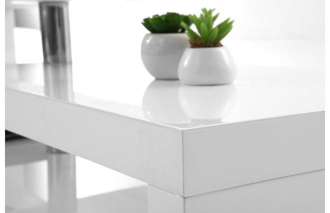 Meuble TV design laqué blanc pivotant MAX V2  Miliboo -> Meuble Tv Blanc Laqué Max Accueil