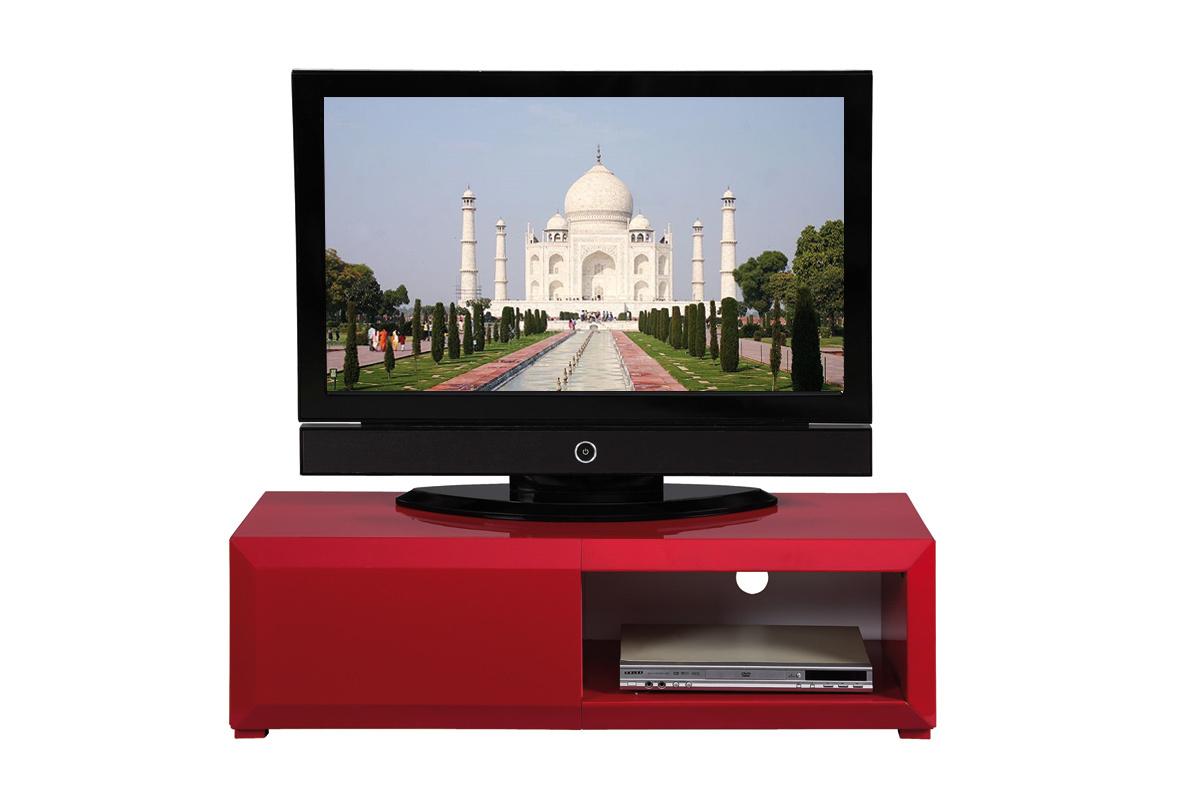 Meuble Tv Laqu Rouge Fly Artzein Com # Meuble Tv Blanc Et Rouge