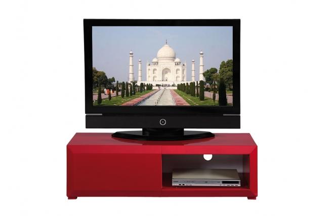 valia double meuble tv blanc finition laquée – Artzein.com