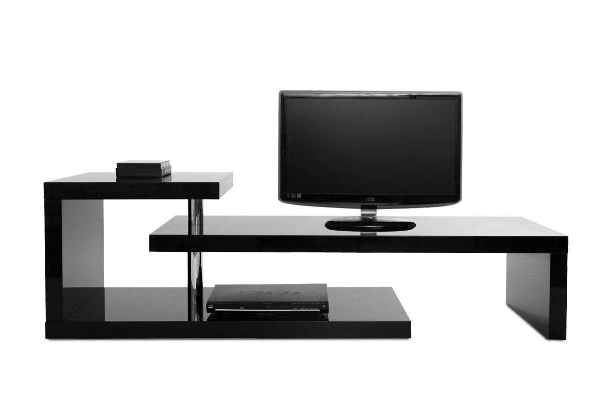 Meuble Tv Moderne Noir : Meuble Tv Design Laqué Noir Turn Pratique Et Moderne Le Meuble Tv