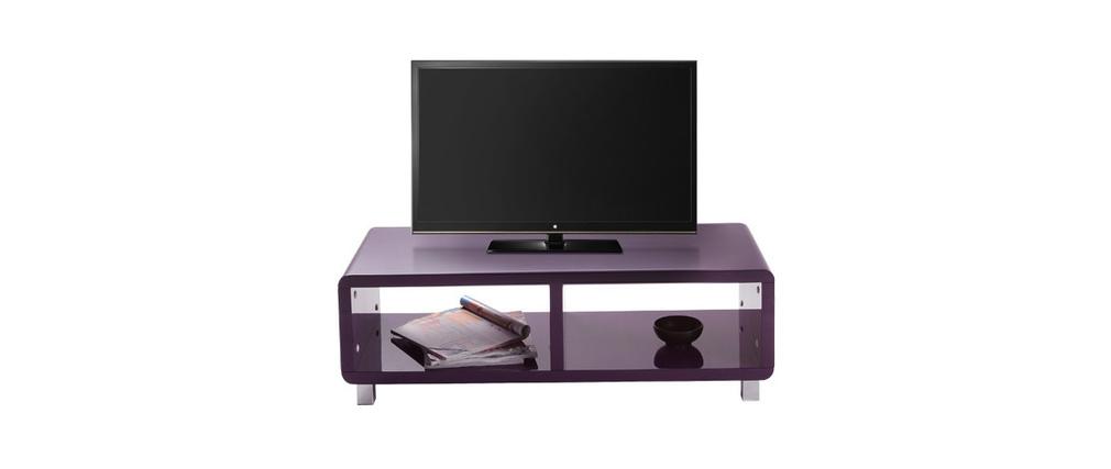 meuble tv violet laque maison design. Black Bedroom Furniture Sets. Home Design Ideas