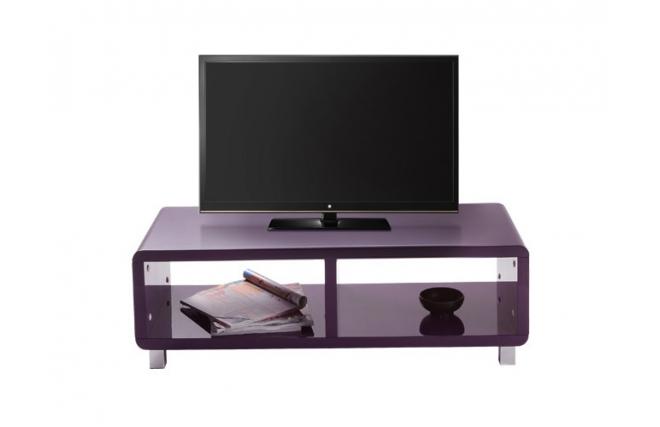 Meuble tv design laqu violet pixy miliboo - Meuble tv violet laque ...