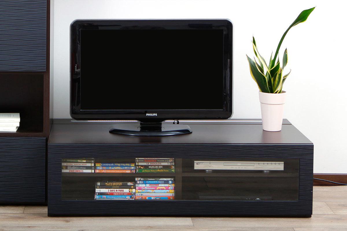 Meuble tv meuble tv en coin noir meuble tv en coin noir for Meuble tv en bois noir