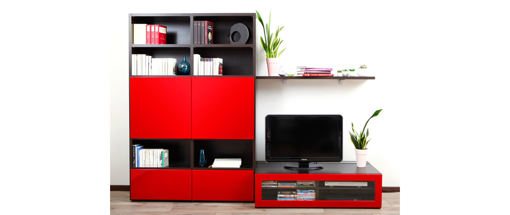 meuble tv design rouge laque sammlung von design zeichnungen als inspirierendes. Black Bedroom Furniture Sets. Home Design Ideas