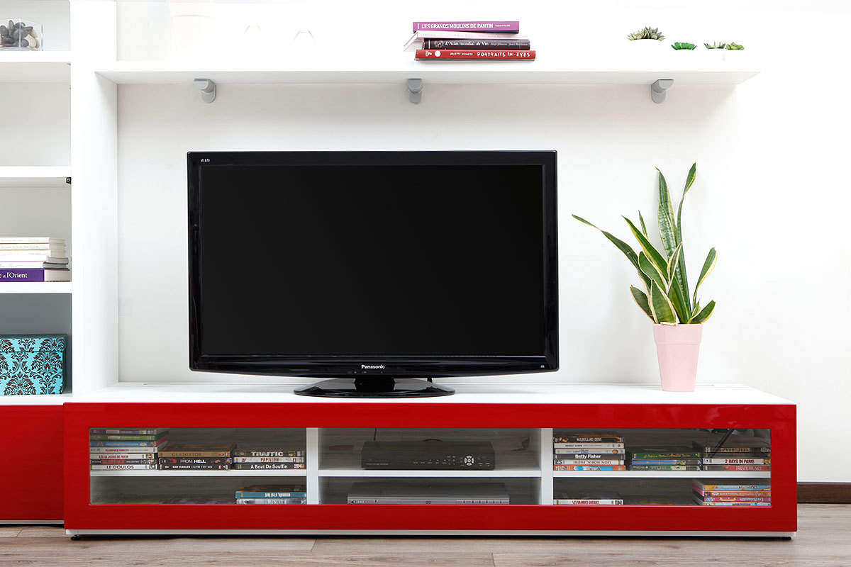 Image post meuble tv design verre image post meuble tv fly nimes image - Meuble Tv Fly Rouge Meuble Tv Moderne Rouge Meuble Tv Design Lumineux 1 89 M