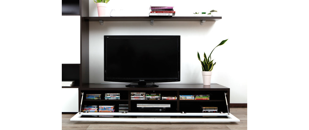 meuble tv blanc chocolat – Artzein.com