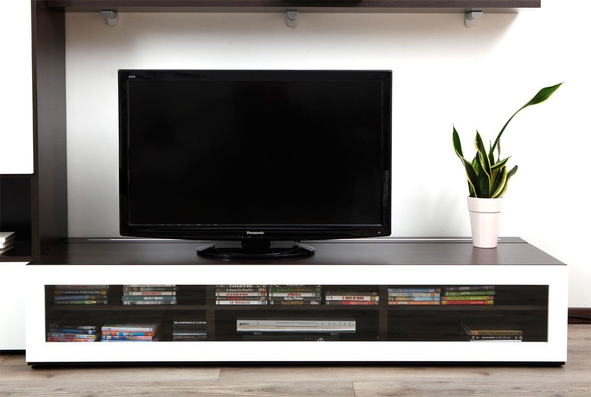 Meuble tv meuble tv blanc laque de coin meuble tv blanc for Achatdesign meuble tv