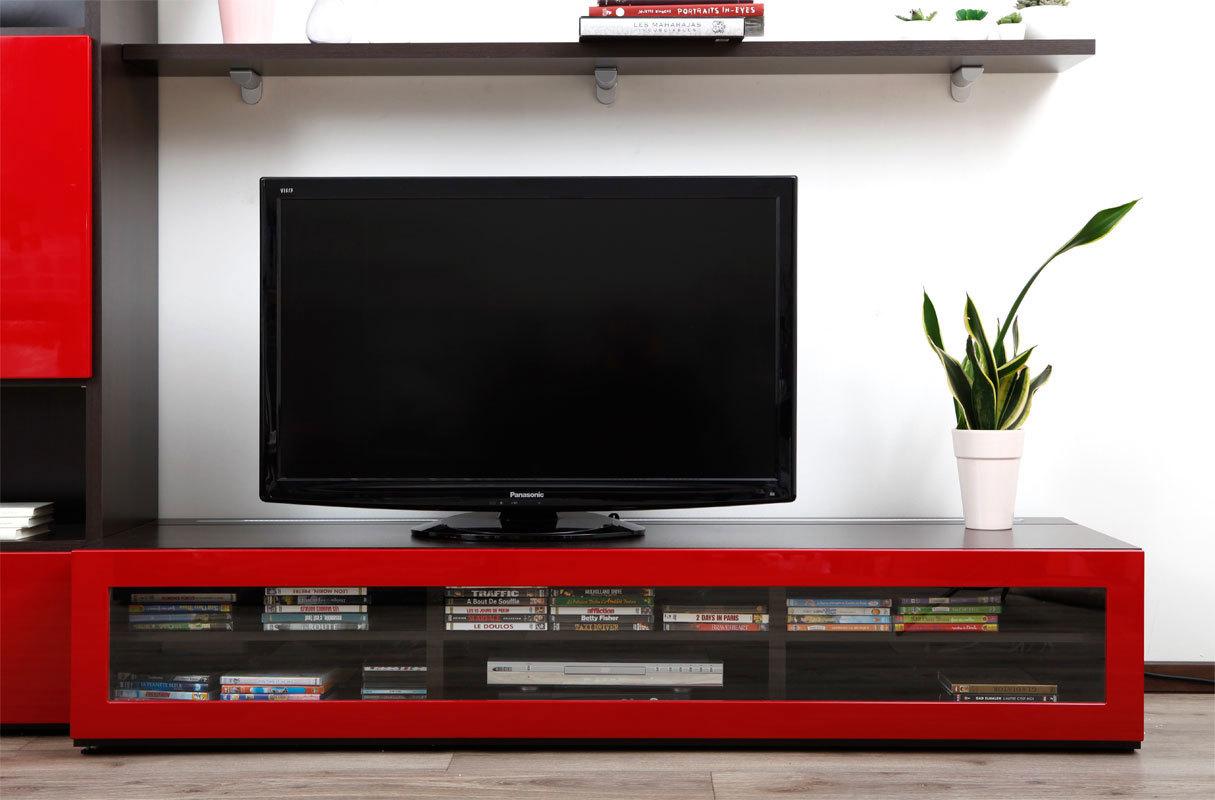 Meuble Tv Ikea Rouge Laqu Artzein Com # Meuble Tv Pas Cher Ikea