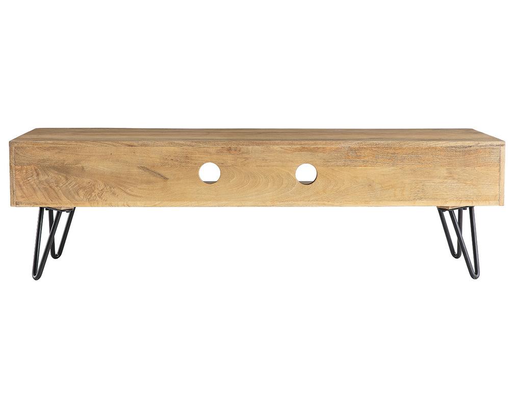 Meuble TV design manguier pieds épingle métal VIBES Miliboo